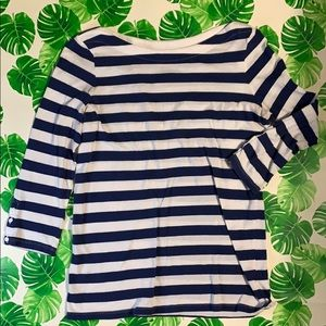 Gap Blue & White Striped Long Sleeve